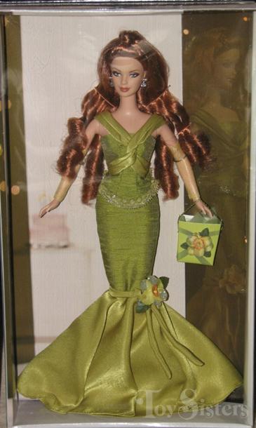 2004 Birthday Wishes Barbie Green Dress